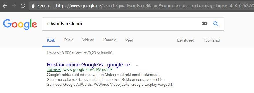 adwords reklaam